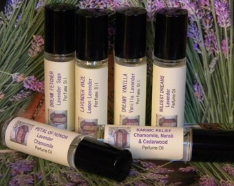 Lavender Cologne Oil Natural Lavender Perfume Oil, Vanilla Lavender Perfume, Lemon Lavender Perfume, Lavender Chamomile Perfume Oil