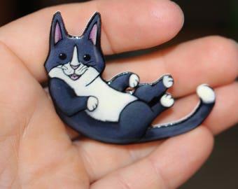 Cat Magnet: Gift for Tuxedo cat lovers or Tuxedo Cat loss Cute animal magnets for car locker or fridge