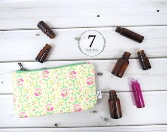 Essential Oil Case - Freshcut - cosmetic bag zipper pouch essential oil bag clutch
