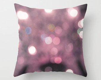 Pink Bokeh pillowcase - Chic Home Decor  - Vintage Photograph throw pillow - Spring Home Decor - girls room