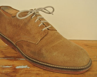 Reichardt's Tan Buck Suede Lace Up Blucher Men's Size: 11.5D