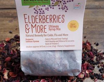 Elderberries & More Ultimate Syrup Mix Packet // Herbal, Elderberry, Rosehip, Hibiscus, Bilberries, Cinnamon Stick, Clove