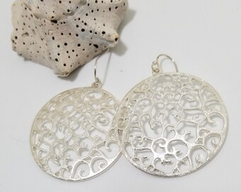 Silver Filled Dangle Drop Earrings #619