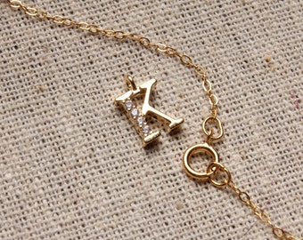 Personalized jewelry - Gold initial pendant - K pendant - K initial necklace - Gold K necklace - custom jewelry, personalized jewelry
