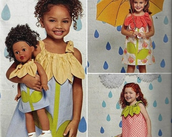 Simplicity Pattern 1172 Child' Sz 3-8 Sportswear Pieces with Matching Doll Dress Ruby Jean's Closet Uncut Factory Folded