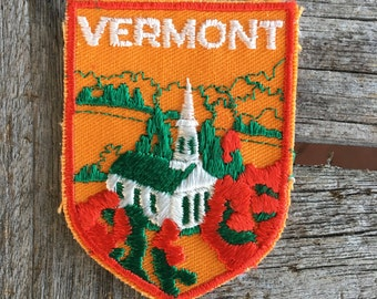 Vermont Vintage Souvenir Travel Patch from Voyager