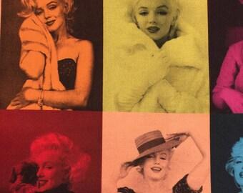 Marilyn Monroe Multicolored Block Digital Print by Robert Kaufman