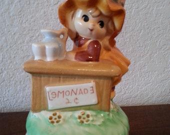 Fred Roberts Co. Japan Musical Figurine - Lemonade Stand