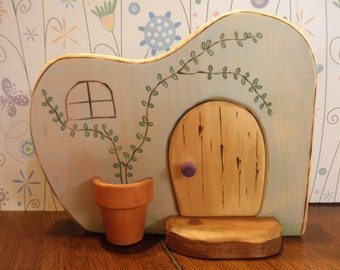 Wood Toy Habitat Whimsical-Gnomes-Fairies-Pixies-Pretend Play- Waldorf Inspired