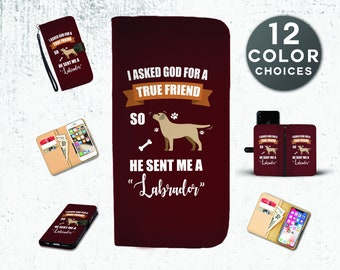 Luxury Labrador Smartphone Wallet Case for iPhone, Samsung & 50+ Other Brands, Labrador iPhone Case, Labrador Phone Case, Labrador Gifts