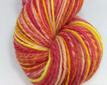 "Handspun Sock Yarn ""Jelly Beans"" 375 yds SW Merino"