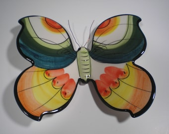 Butterflies-Wall Butterflies-Ceramic Wall Butterflies-Hand painted Butterflies-Wall Hanging Butterflies