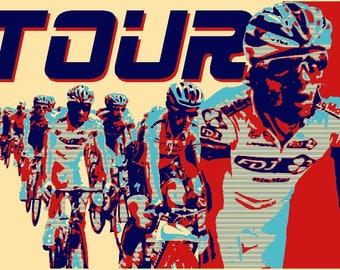 Tour A3 digital print