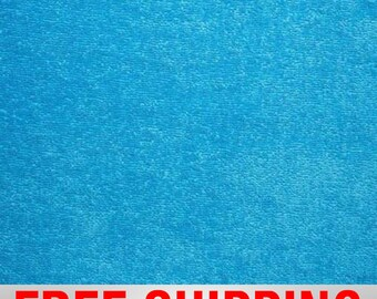 """Terry Cloth Fabric Towel Fabric Azure. 57"""" Wide. 100% Cotton. Free Shipping Style TC-8006"""