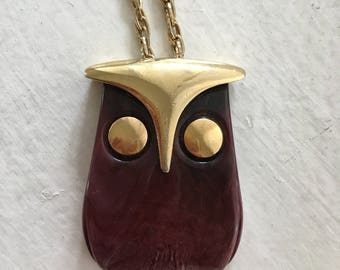 Abstract Owl Pendant