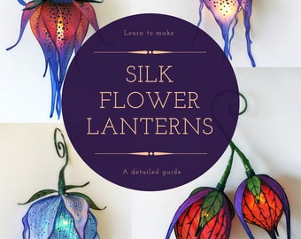 Silk Flower Lantern Tutorial