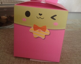 5 pink bunny box