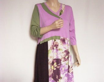 XL Pink and Green Party Dress