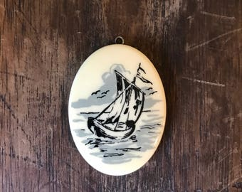 Vintage Sailboat Pendant