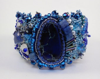 On a Moonlight Cruise Bead Embroidered Cuff