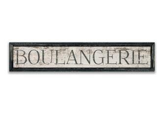 "Boulangerie wooden sign Boulangerie plaques French signs Bakery signs Kitchen signs kitchen decor bakery decor business signs 40""x8""x2"""