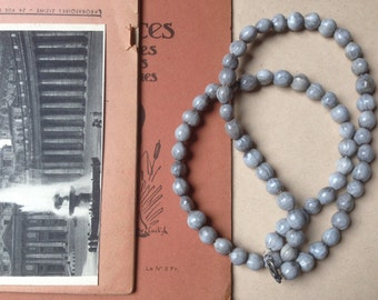 Natural Pearl Necklace / / job's tears