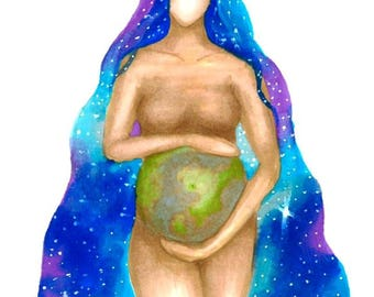 Greetings card - Gaia (Mother Earth)