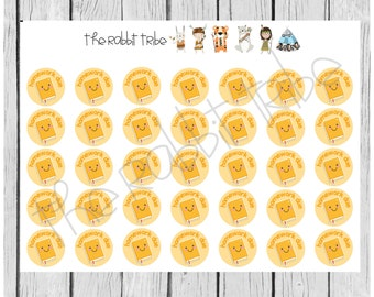 Daily Dots - homework due - planner stickers