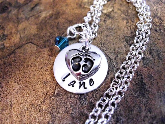 Items Similar To New Baby Necklace Personalized Mom