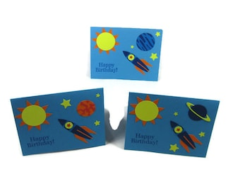 Happy Birthday Space Themed Blank Card You Pick One