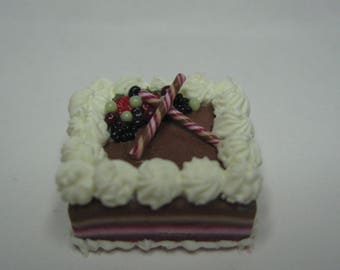 12th scale miniature handcrafted Frosted Fruits Gateaux