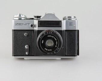 Vintage camera Zenit-E + Lens Industar-50 / 3.5. Made in USSR