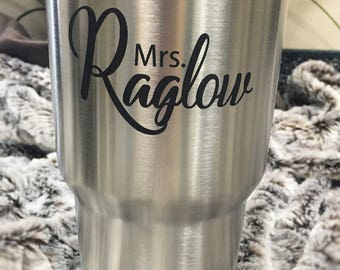 Stainless Steel Engraved Mug - 30oz Lots of Designs - Better than Yeti