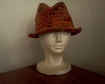 Custom Classic Fedora // Crocheted Fedoras // Unisex Hats // Holiday Gifts // Christmas Gifts