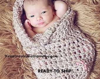 Cocoon Egg Newborn Baby wrap Photo prop in Brown Sugar / Photography Prop all Babies Girl Boy Photo shoot / Perfect GIFT Newborns New Baby