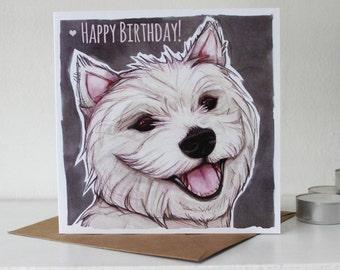 West Highland Terrier (Westie) Happy Birthday Card