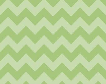 Green Tone on Tone Medium Chevron Fabric by Riley Blake Designs. 100% cotton, Designer Modern Medium Chevron C380-31
