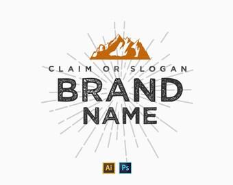 Logo-Vorlage 01-Photoshop & Illustrator + 50 Arten für Photoshop + Links Logo Mockups frei