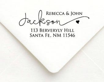 Personalized Self Inking Return Address Stamp - self inking address stamp - Custom Rubber Stamp, wedding address stamp A59