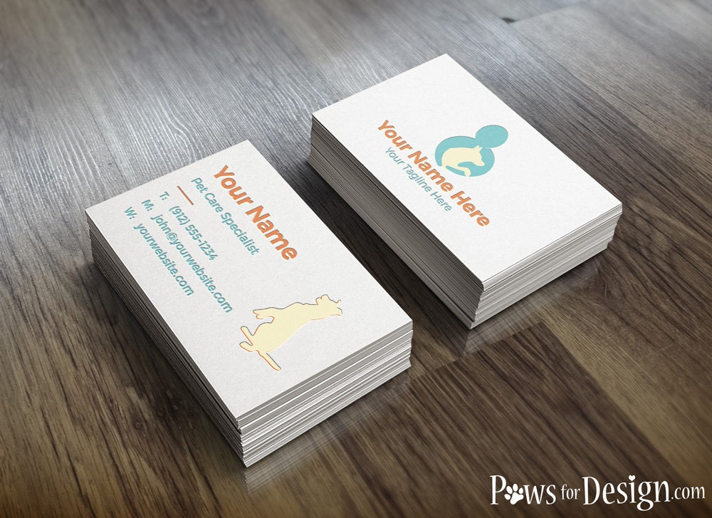 Pre Made Pet Care Business Card pet sitter dog trainer pet