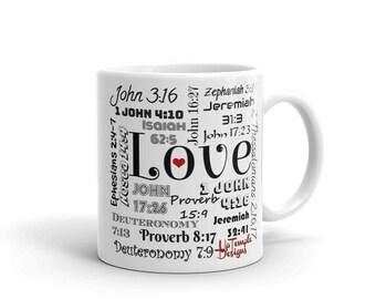 Love Mug w/Scriptures