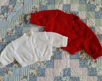 Instant Download Pattern for Machine Knit Little Girl's Sweaterlette (Bolero)