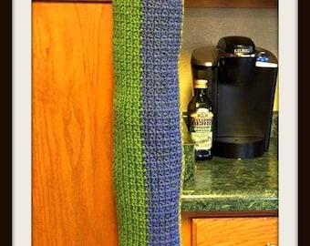 Kiwi Bag Holder, Crochet Pattern, Mini C2C