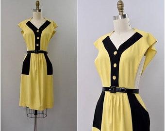 "SPRING SALE 1940's rare ""Jumperjack"" pinafore rayon dress •  xs"
