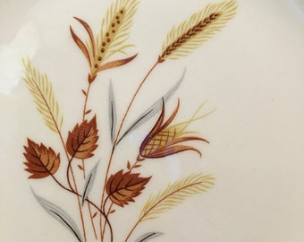 1950s Autumn Harvest Bread Plates by Taylor Smith sold individually