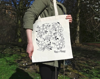 Floral Tote Bag - Limited Edition Tote Bag