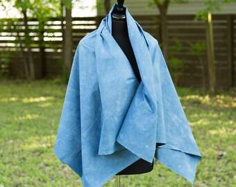 Tencel and rayon blend fabric - hand dyed - organic indigo