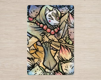 Discontinued Item / Rao / Ninetails, Kitsune, Okami / 4x6 Glossy Postcard Rounded Corners