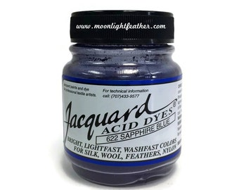 Feather, silk, wool, cashmere and Yarn Dyes - SAPPHIRE BLUE Jacquard Acid Dyes - 1/2 Oz : 3728