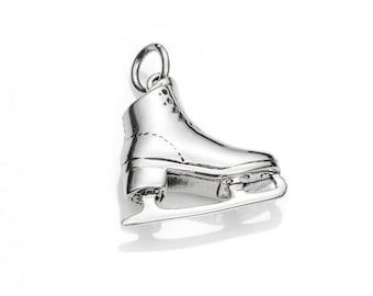 Ice skate pendant 925 sterling silver